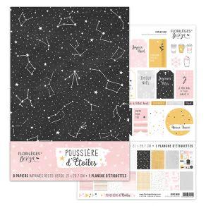 Kit POUSSIÈRE D'ÉTOILES par Florilèges Design. Scrapbooking et loisirs créatifs. Livraison rapide et cadeau dans chaque comma...