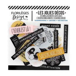 Décos SAISON DU COCOONING par Florilèges Design. Scrapbooking et loisirs créatifs. Livraison rapide et cadeau dans chaque com...