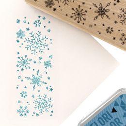 Tampon bois À GROS FLOCONS par Florilèges Design. Scrapbooking et loisirs créatifs. Livraison rapide et cadeau dans chaque co...