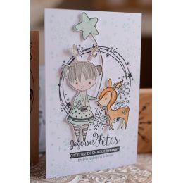 Tampon bois MON PETIT FAON par Florilèges Design. Scrapbooking et loisirs créatifs. Livraison rapide et cadeau dans chaque co...