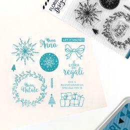 Tampon clear italien AUGURI DI NATALE par Florilèges Design. Scrapbooking et loisirs créatifs. Livraison rapide et cadeau dan...