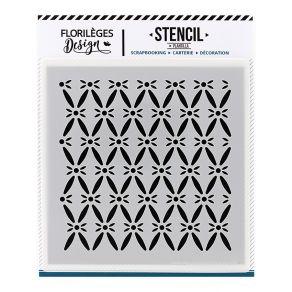 Pochoir FOND CAPITONNÉ par Florilèges Design. Scrapbooking et loisirs créatifs. Livraison rapide et cadeau dans chaque commande.