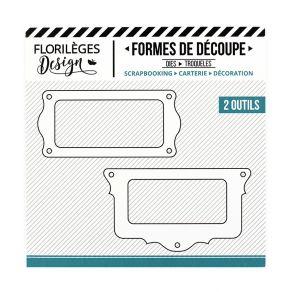 Outils de découpe PORTE-ÉTIQUETTES FESTONNÉS par Florilèges Design. Scrapbooking et loisirs créatifs. Livraison rapide et cad...