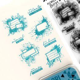 Tampons clear ÉTIQUETTES TACHÉES par Florilèges Design. Scrapbooking et loisirs créatifs. Livraison rapide et cadeau dans cha...