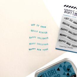 Tampons clear PETITS MOTS BANNIÈRES 2 par Florilèges Design. Scrapbooking et loisirs créatifs. Livraison rapide et cadeau dan...