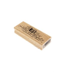 Tampon bois LIFE IS WONDERFUL par Florilèges Design. Scrapbooking et loisirs créatifs. Livraison rapide et cadeau dans chaque...