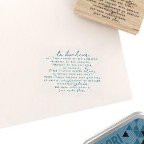 Tampon bois CHACUN DE TES SOURIRES par Florilèges Design. Scrapbooking et loisirs créatifs. Livraison rapide et cadeau dans c...