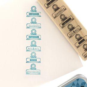 Tampon bois PINCES SOUVENIRS par Florilèges Design. Scrapbooking et loisirs créatifs. Livraison rapide et cadeau dans chaque ...