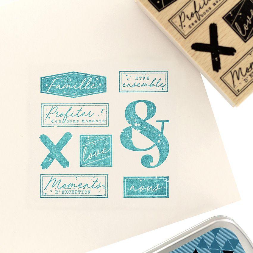 Tampon bois MOMENTS D'EXCEPTION par Florilèges Design. Scrapbooking et loisirs créatifs. Livraison rapide et cadeau dans chaq...