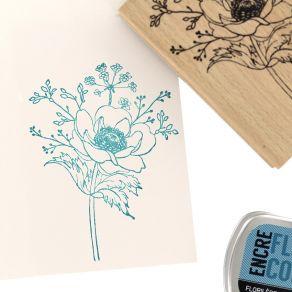 Tampon bois BOUQUET DES CHAMPS par Florilèges Design. Scrapbooking et loisirs créatifs. Livraison rapide et cadeau dans chaqu...