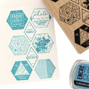 Tampon bois MULTI HEXAGONES par Florilèges Design. Scrapbooking et loisirs créatifs. Livraison rapide et cadeau dans chaque c...