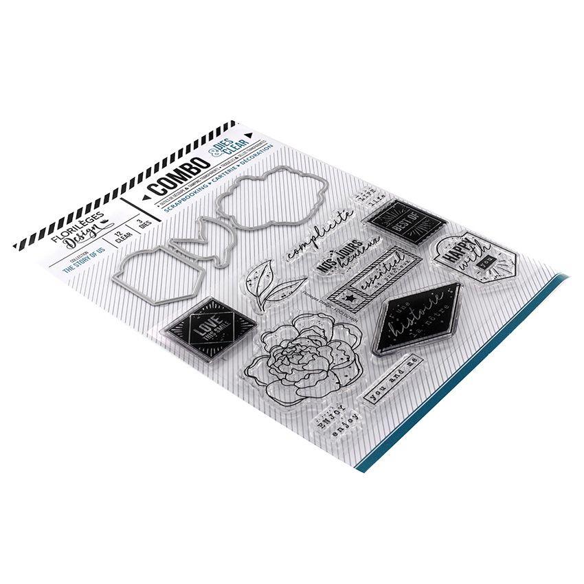 Combo Clear Die HAPPY WITH YOU par Florilèges Design. Scrapbooking et loisirs créatifs. Livraison rapide et cadeau dans chaqu...