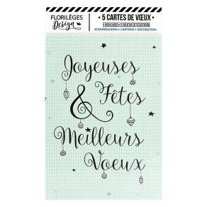 5 cartes de vœux COSY CHRISTMAS par Florilèges Design. Scrapbooking et loisirs créatifs. Livraison rapide et cadeau dans chaq...