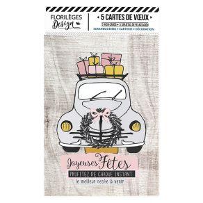 5 cartes de vœux POUSSIÈRE D'ÉTOILES par Florilèges Design. Scrapbooking et loisirs créatifs. Livraison rapide et cadeau dans...