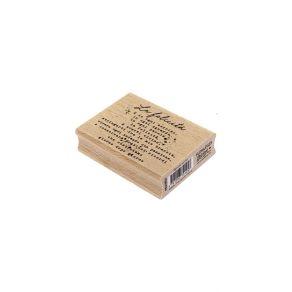 Tampon bois italien OGNI TUO SORRISO par Florilèges Design. Scrapbooking et loisirs créatifs. Livraison rapide et cadeau dans...
