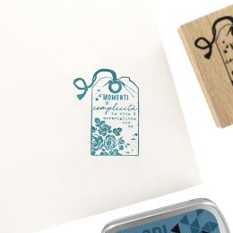 Tampon bois italien LA VITA È MERAVIGLIOSA par Florilèges Design. Scrapbooking et loisirs créatifs. Livraison rapide et cadea...