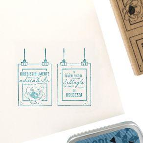 Tampon bois italien DETTAGLI TENERI par Florilèges Design. Scrapbooking et loisirs créatifs. Livraison rapide et cadeau dans ...