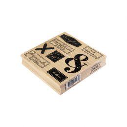 Tampon bois italien MOMENTI ECCEZIONALI par Florilèges Design. Scrapbooking et loisirs créatifs. Livraison rapide et cadeau d...
