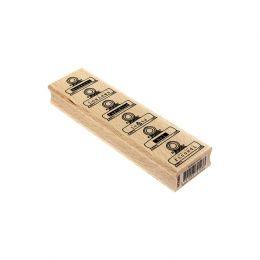 Tampon bois italien MOLLETTE RICORDI par Florilèges Design. Scrapbooking et loisirs créatifs. Livraison rapide et cadeau dans...