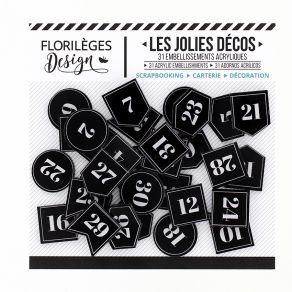 Décos ÉTIQUETTES NUMÉROTÉES par Florilèges Design. Scrapbooking et loisirs créatifs. Livraison rapide et cadeau dans chaque c...