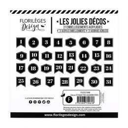 PROMO de -20% sur Décos ÉTIQUETTES NUMÉROTÉES Florilèges Design