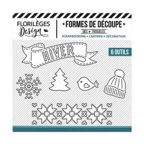 PROMO de -40% sur Outils de découpe HIVER BLANC Florilèges Design