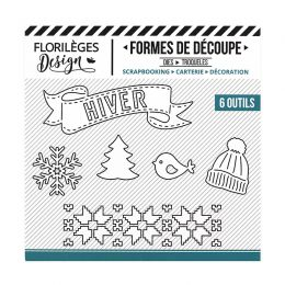 Outils de découpe HIVER BLANC par Florilèges Design. Scrapbooking et loisirs créatifs. Livraison rapide et cadeau dans chaque...