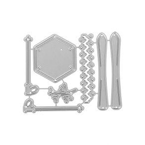 Outils de découpe SKIS ET BÂTONS par Florilèges Design. Scrapbooking et loisirs créatifs. Livraison rapide et cadeau dans cha...
