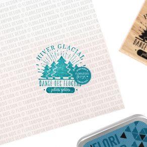 Tampon bois HIVER GLACIAL par Florilèges Design. Scrapbooking et loisirs créatifs. Livraison rapide et cadeau dans chaque com...