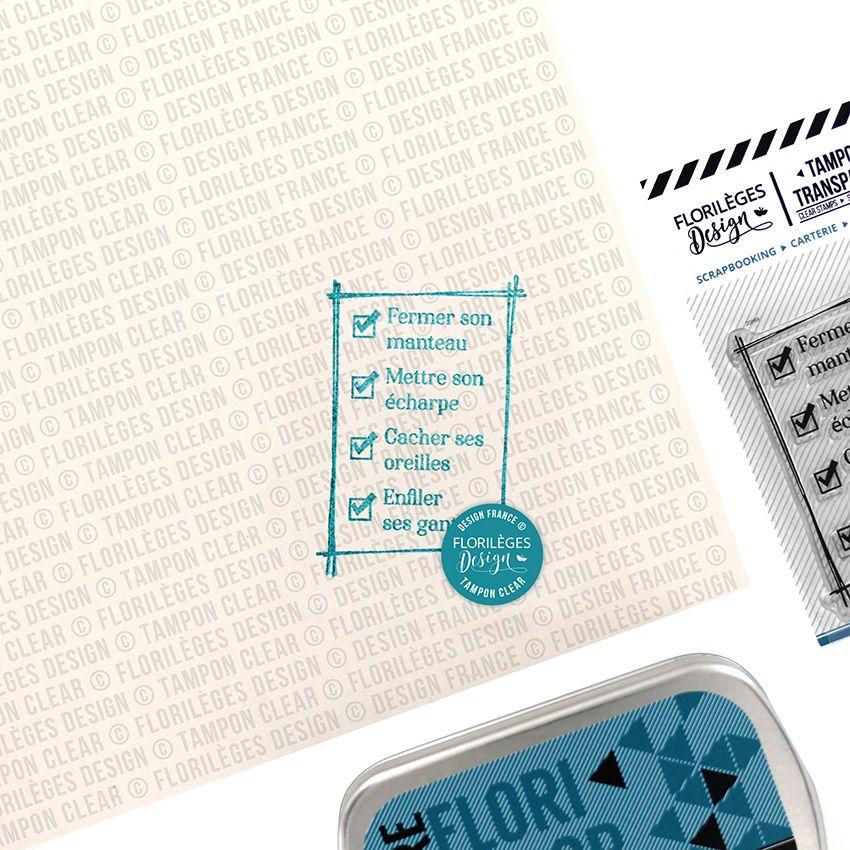 PROMO de -60% sur Tampons clear TO DO LIST Florilèges Design