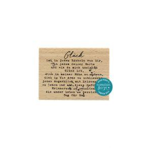 Tampon bois allemand GLÜCK par Florilèges Design. Scrapbooking et loisirs créatifs. Livraison rapide et cadeau dans chaque co...