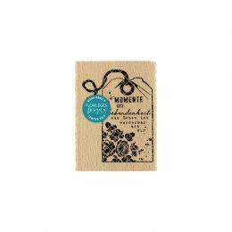 Tampon bois allemand DAS LEBEN IST WUNDERBAR par Florilèges Design. Scrapbooking et loisirs créatifs. Livraison rapide et cad...