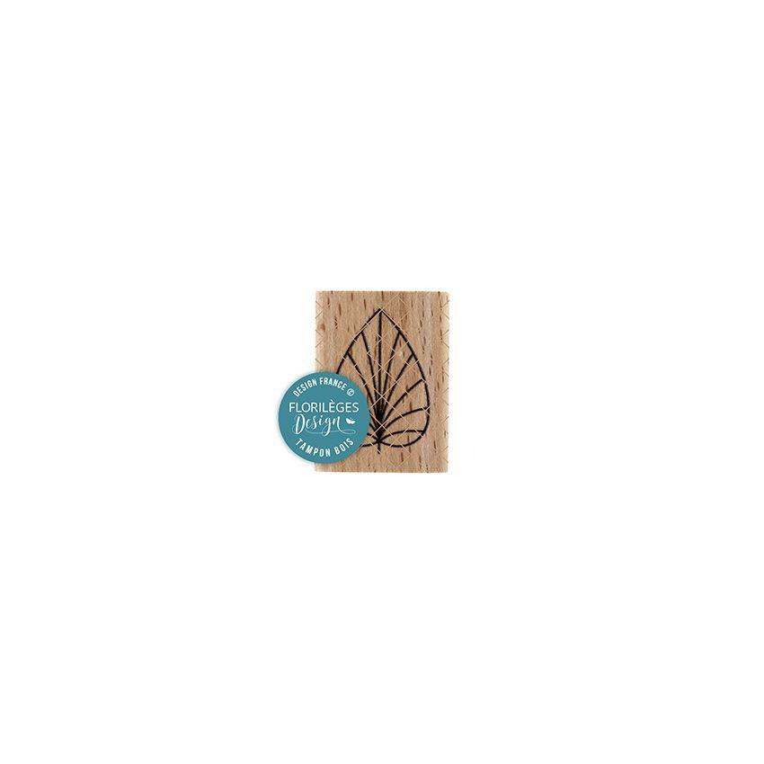 Tampon bois FEUILLE DÉCO par Florilèges Design. Scrapbooking et loisirs créatifs. Livraison rapide et cadeau dans chaque comm...