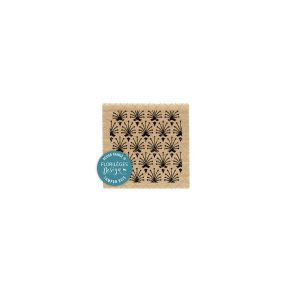 PROMO de -99.99% sur Tampon bois PLUME DE PAON Florilèges Design
