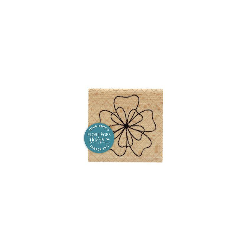 Tampon bois FLEUR DE FIL par Florilèges Design. Scrapbooking et loisirs créatifs. Livraison rapide et cadeau dans chaque comm...