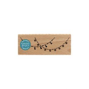 Tampon bois BRELOQUES ET POMPONS par Florilèges Design. Scrapbooking et loisirs créatifs. Livraison rapide et cadeau dans cha...