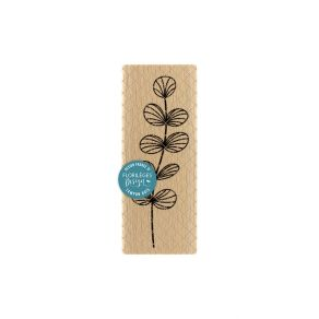 Tampon bois EUCALYPTUS par Florilèges Design. Scrapbooking et loisirs créatifs. Livraison rapide et cadeau dans chaque commande.
