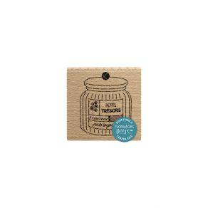 PROMO de -99.99% sur Tampon bois BOCAL À TRÉSORS Florilèges Design