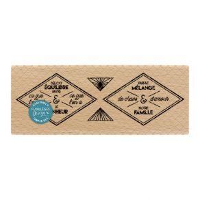 Tampon bois ÉTIQUETTES LOSANGES par Florilèges Design. Scrapbooking et loisirs créatifs. Livraison rapide et cadeau dans chaq...