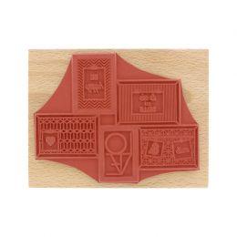 PROMO de -99.99% sur Tampon bois 5 CADRES Florilèges Design