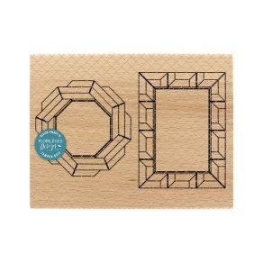 Tampon bois CADRES CHARLESTON par Florilèges Design. Scrapbooking et loisirs créatifs. Livraison rapide et cadeau dans chaque...