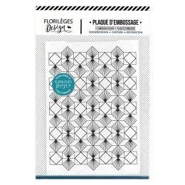 Plaque d'embossage ART DÉCO par Florilèges Design. Scrapbooking et loisirs créatifs. Livraison rapide et cadeau dans chaque c...