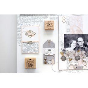 Tampon bois PETITE ANÉMONE par Florilèges Design. Scrapbooking et loisirs créatifs. Livraison rapide et cadeau dans chaque co...