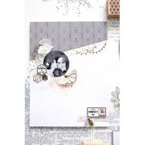 Tampon bois PAMPILLE par Florilèges Design. Scrapbooking et loisirs créatifs. Livraison rapide et cadeau dans chaque commande.
