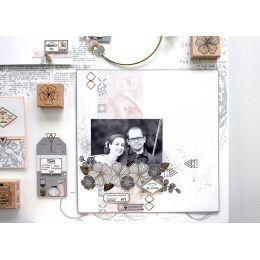 Pochoir CUBES RAYÉS par Florilèges Design. Scrapbooking et loisirs créatifs. Livraison rapide et cadeau dans chaque commande.