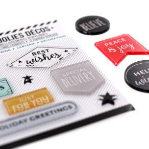 Décos HOLIDAY GREETINGS par Florilèges Design. Scrapbooking et loisirs créatifs. Livraison rapide et cadeau dans chaque comma...