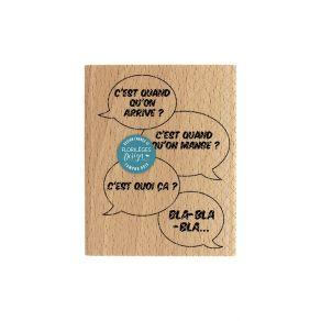 PROMO de -50% sur Tampon bois DIS MAMAN? Florilèges Design