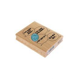 Tampon bois DIS MAMAN? par Florilèges Design. Scrapbooking et loisirs créatifs. Livraison rapide et cadeau dans chaque comma...