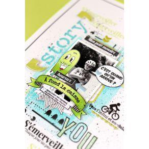 Tampon bois PETITS MONSTRES par Florilèges Design. Scrapbooking et loisirs créatifs. Livraison rapide et cadeau dans chaque c...