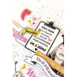 Tampons clear CHEZ NOUS par Florilèges Design. Scrapbooking et loisirs créatifs. Livraison rapide et cadeau dans chaque comma...